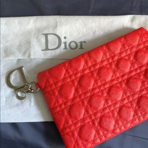 Dior Quilter pattern  cannage clutch.